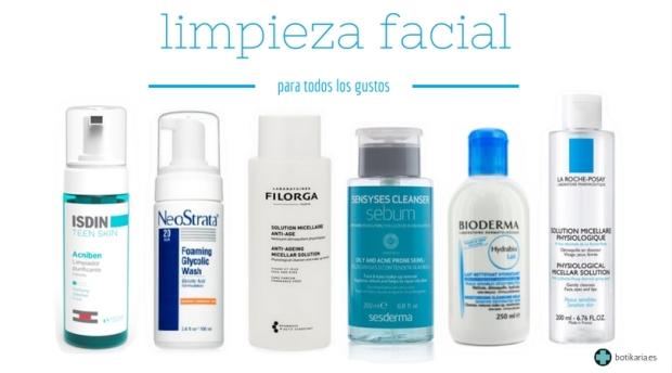 limpieza facial - productos recomendados