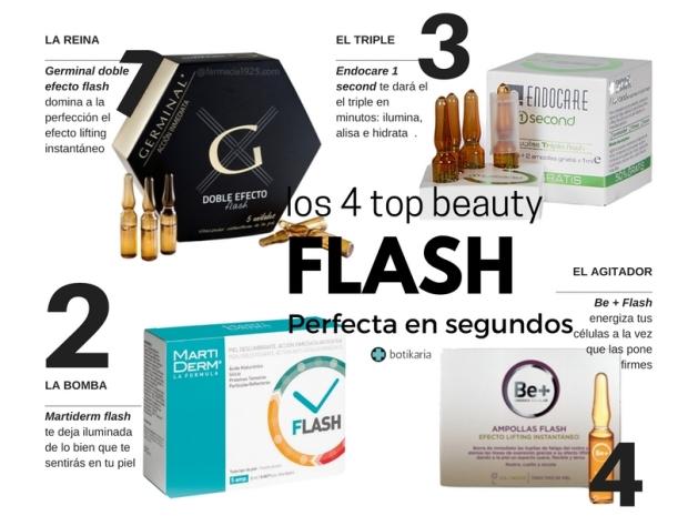 Nuestras 4 recomendaciones de flash de belleza
