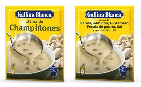 Conoce los ingredientes reales de la crema de champiñones