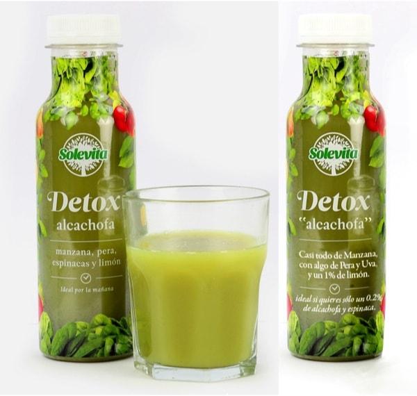 Como leer la etiqueta real del zumo de alcachofa